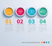 Papierkreis infographic Stockfoto