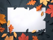 Papierkunst - Autumn Fall Leaves Background vektor abbildung