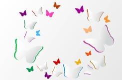Papierkunstorigami im bunten Gruppenkreis des Schmetterlinges entwirft Vektorillustration Lizenzfreie Stockfotografie