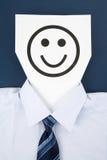 Papierlächeln-Gesicht Stockfoto