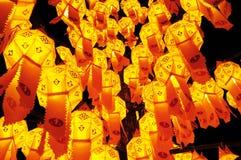 Papierlampe, Laternefestival Stockbilder