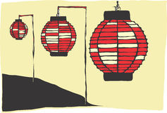 Papierlampen Lizenzfreies Stockfoto