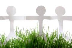 Papierleute-Gras Lizenzfreie Stockbilder