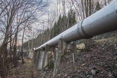 Papiermühle Saugbrugs (Wasserleitungen zur Aufbereitungsanlage) Stockfotografie