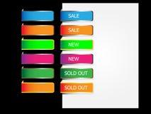 Papiermarken für Web. Stockfotografie