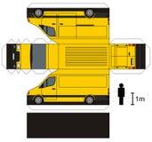 Papiermodell eines Packwagens Stockfoto