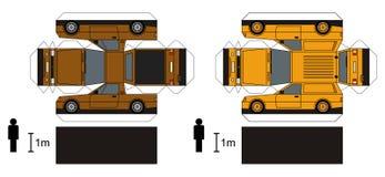 Papiermodell von Lieferungsautos lizenzfreie abbildung