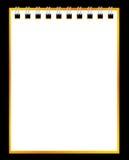 Papiernotizbuch auf schwarzem Hintergrund Lizenzfreie Stockbilder