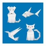 Papierorigami-Tiere Stockfoto