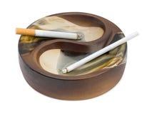 papierosów popiołów kobiecej tray mężczyzny Obrazy Stock