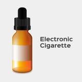 papieros elektroniczny elektroniczna papierosowa butelka Zdjęcie Stock