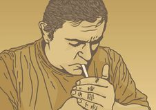 papierosowy oświetlenie royalty ilustracja