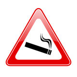 Papierosowy ostrożność znak ilustracji