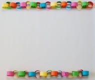 Papierowa łańcuch granica Fotografia Stock