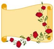 Papierowa ślimacznica z czerwonymi różami royalty ilustracja
