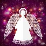 Papierowa anioł ilustracja Fotografia Royalty Free