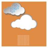 Papierowa chmura na pomarańczowym tle Obrazy Royalty Free