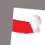 papierowa czerwień wyjawia poszarpanego royalty ilustracja