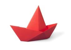 Papierowa łódź Zdjęcia Stock
