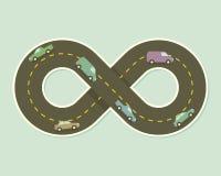 Papierowa droga w kształcie nieskończoność Zdjęcia Stock