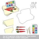 Papierowa dzieciak gra Łatwy zastosowanie dla dzieciaków ilustracji