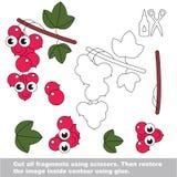 Papierowa dzieciak gra Łatwy zastosowanie dla dzieciaków z Śmiesznym czerwonym rodzynkiem royalty ilustracja