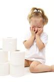 papierowa dziewczynki toaleta obrazy royalty free