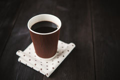Papierowa filiżanka gorąca kawa Zdjęcie Stock