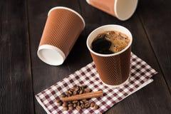 Papierowa filiżanka gorąca kawa Obraz Stock