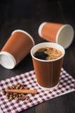 Papierowa filiżanka gorąca kawa Obrazy Royalty Free