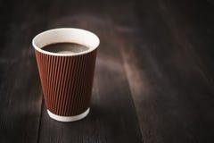 Papierowa filiżanka gorąca kawa Obrazy Stock