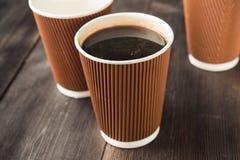 Papierowa filiżanka gorąca kawa Zdjęcia Royalty Free