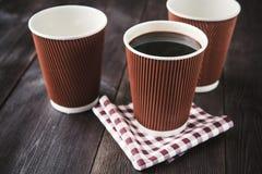 Papierowa filiżanka gorąca kawa Zdjęcia Stock
