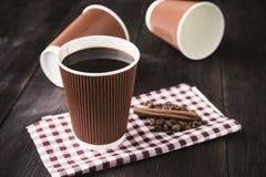 Papierowa filiżanka gorąca kawa Obraz Royalty Free