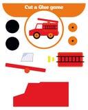 Papierowa gra dla rozwoju preschool dzieci Rżnięte części kleidło na papierze i wizerunek ilustracja wektor