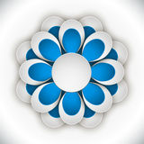 Papierowa grafika kwiat geometryczna sztuka Zdjęcie Stock