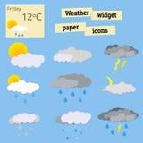 Papierowa ikony pogoda Zdjęcie Stock
