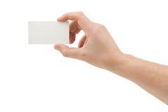 Papierowa karta w ręce Zdjęcie Stock