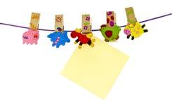 Papierowa klamerka Fotografia Stock