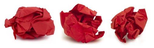 papierowa kolekci czerwień Fotografia Stock