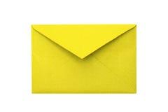 Papierowa koperta na białym tle Zdjęcie Royalty Free