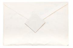 Papierowa koperta pieczętująca znaczkiem pocztowym obraz royalty free