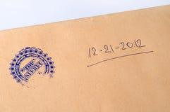 Papierowa koperta stemplujący Ściśle Tajny Zdjęcie Royalty Free