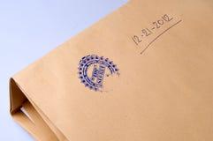 Papierowa koperta stemplujący Ściśle Tajny Zdjęcie Stock