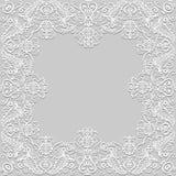 Papierowa koronki rama Zdjęcia Royalty Free