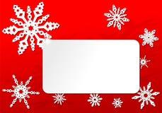 Papierowa origami bożych narodzeń płatka śniegu karta Obraz Royalty Free