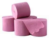 papierowa różowa toaleta Fotografia Stock