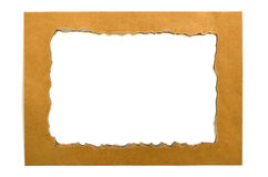 Papierowa rama Obrazy Stock