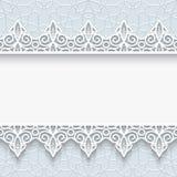 Papierowa rama z koronkowymi granicami Zdjęcia Royalty Free