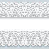 Papierowa rama z koronkowymi granicami Obraz Stock